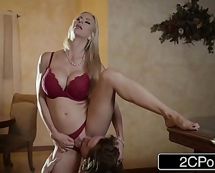 Shocking christmas sex between pretty stepmom alexis fawx and her stepson