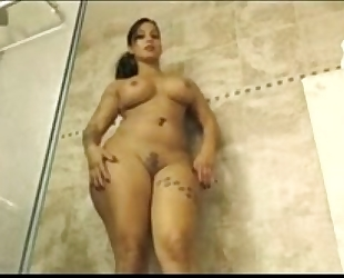 Busty slutwife showing hawt moves in shower