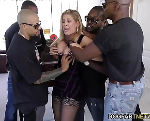 Cherie deville receives team-fucked by large dark rods