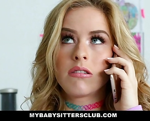 Mybabysittersclub - delightful babysitter lily ford bonks sexy boss
