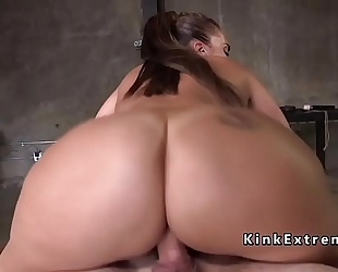 Huge arse serf drilled with giant wang
