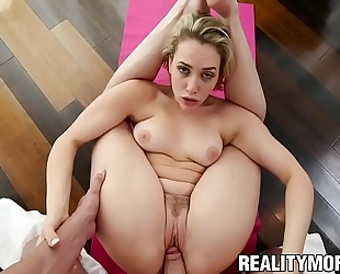 Blonde pliant mia malkova screwed and jizzed on her face